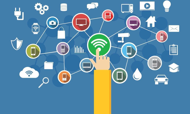 Ilustrasi Jaringan Internet Mencakup Beberapa Perangkat