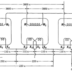 Single Phase Motor Wiring Diagram With Capacitor Start Psc Transformers For Three Operation Fig 17 10 Transformer Connections 3800 220 110 V 3 Y D