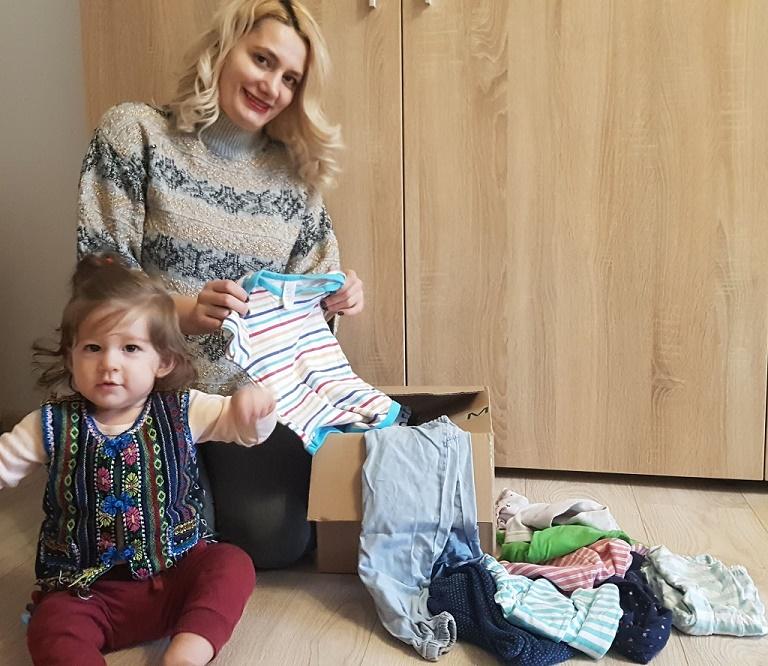 sortare haine pentru donat