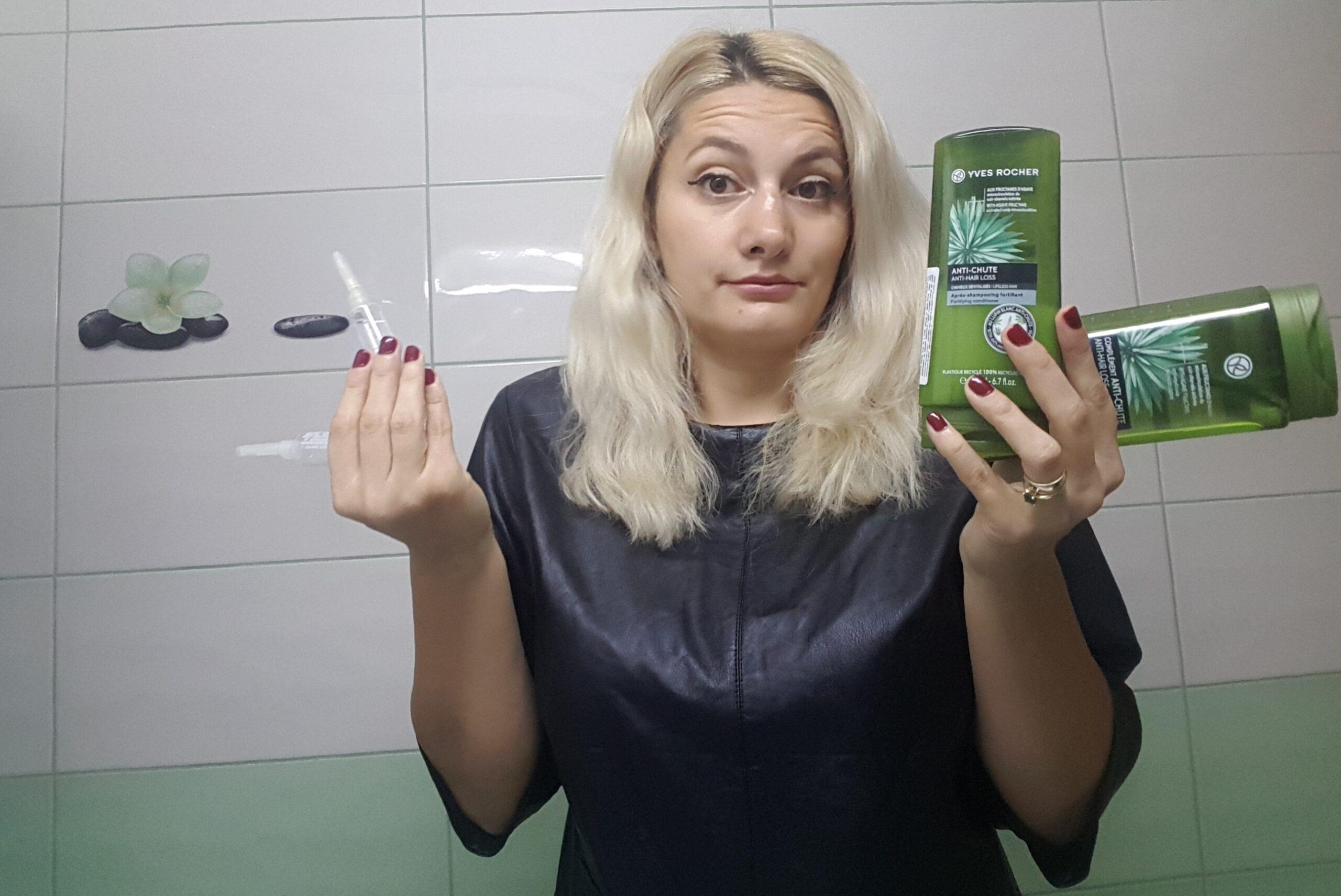 Gama de produse expert împotriva căderii părului de la Yves Rocher