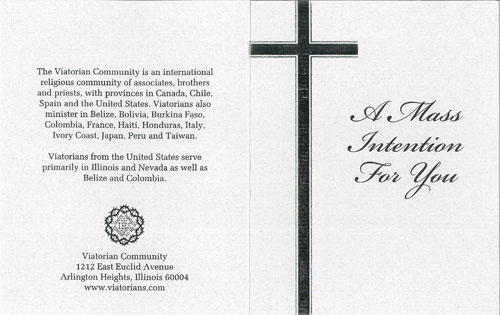 The Viatorian Community » Mass and Prayer Cards