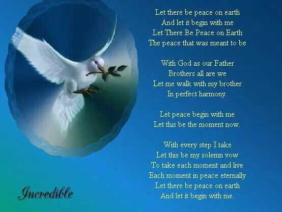 Image result for Prayer for Peace and Harmony