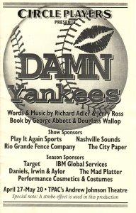 Damn Yankees program
