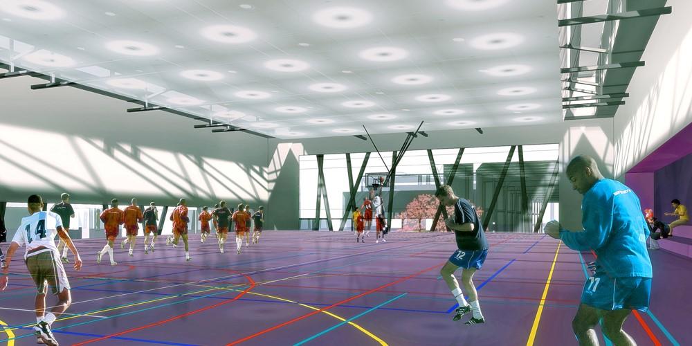 Centre sportif - ZAC Pajol   Paris 18