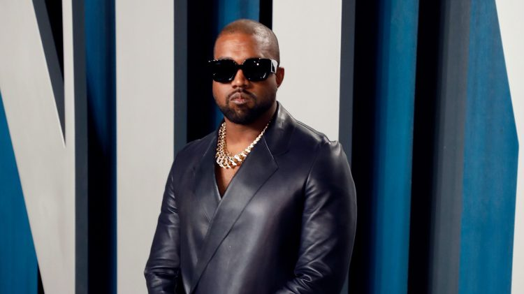 kanye west in black shades and