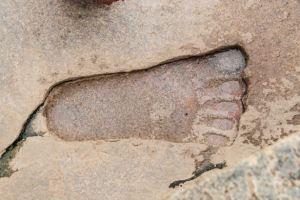 Lepakshi Temple Sita footprint