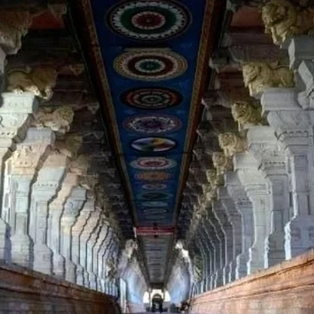 Corridors in Padmanabhaswamy temple.