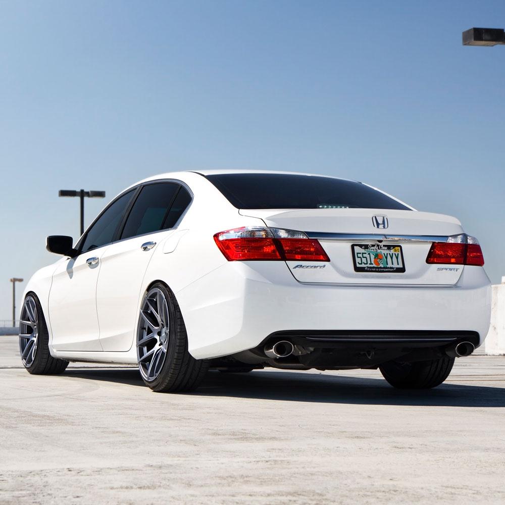 hight resolution of  honda accord white velgen vmb5 matte gunmetal wheels 04 jpg