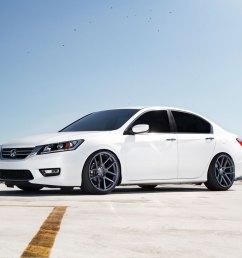 honda accord white velgen vmb5 matte gunmetal wheels 05 jpg  [ 1000 x 1000 Pixel ]