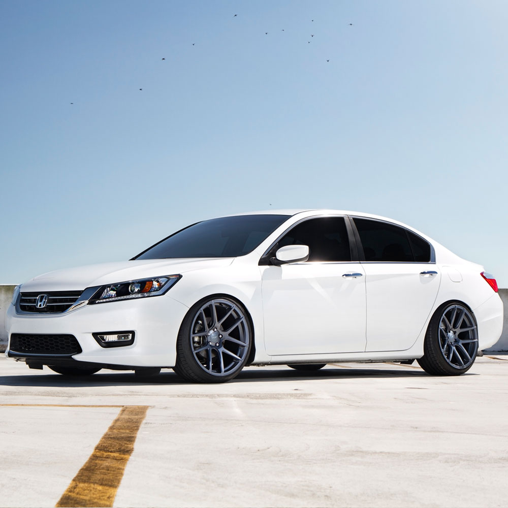medium resolution of  honda accord white velgen vmb5 matte gunmetal wheels 05 jpg