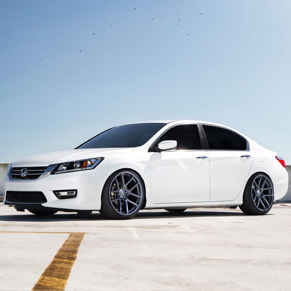 hight resolution of  honda accord white velgen vmb5 matte gunmetal wheels 05 jpg