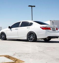 honda accord white velgen vmb5 matte gunmetal wheels 08 jpg  [ 1000 x 1000 Pixel ]
