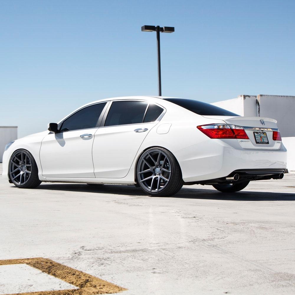 hight resolution of  honda accord white velgen vmb5 matte gunmetal wheels 08 jpg