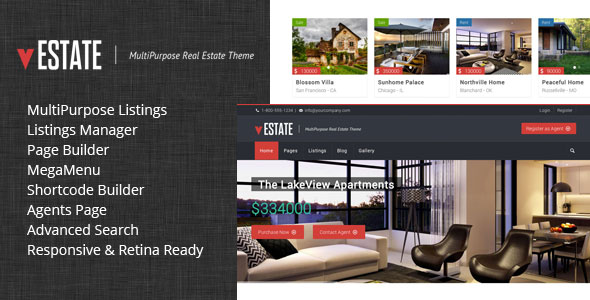 vEstate real estate theme by vibethemes