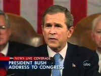 """Either you are with us, or you are with the terrorists."" - President George W. Bush"
