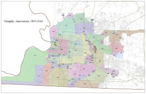 Annexations in Memphis - via SmartCityMemphis blog