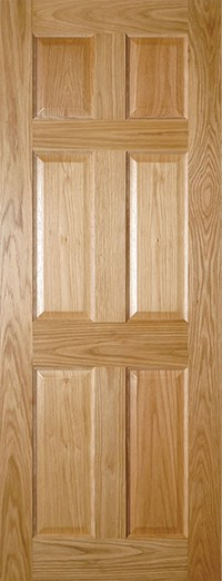Oxford 6 Panel Oak Door | Prefinished Oak Doors | Vibrant ...