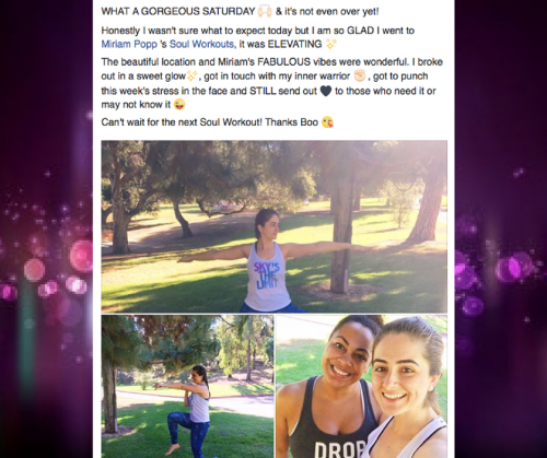 Soul Workouts testimonial