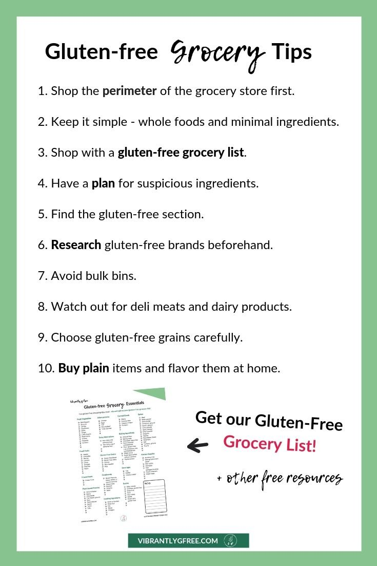 Gluten-free Grocery List Tips Summary