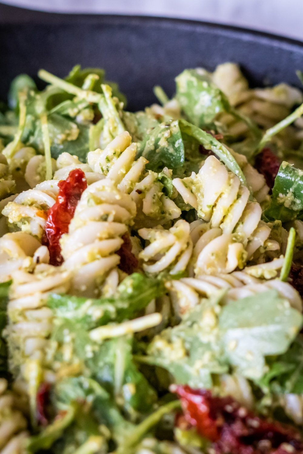Pea Pesto Pasta close up