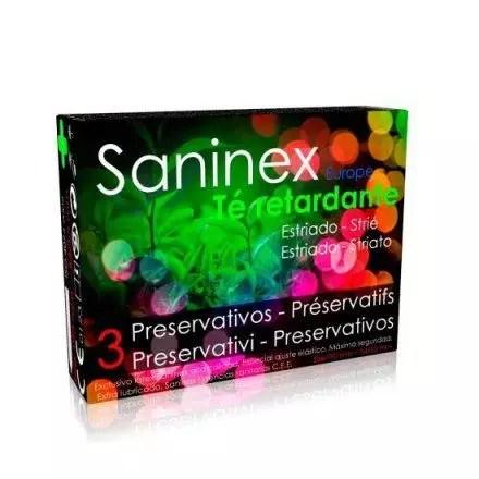 preservatiivo SANINEX ESTRIADO AROMATICO TE RETARDANTE 3 UDS en Vibrashop