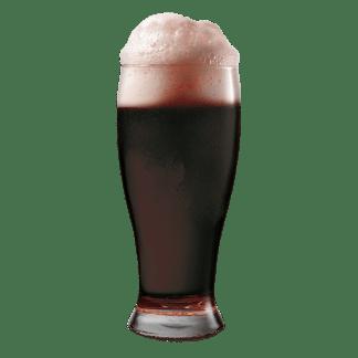 Mørkt øl med skum