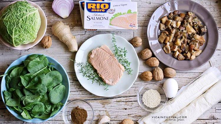 Rio mare salmon recipes | Puff crusted salmon ingredients recipe blog @vicaincucina