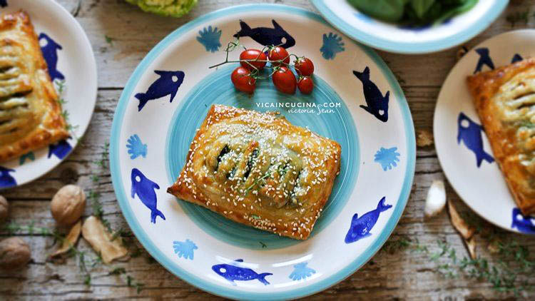 Puff pastry salmon with three different fillings recipe blog @vicaincucina