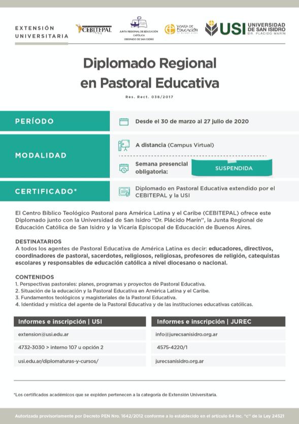 Diplomado Pastoral Educativa