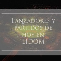 Partidos y lanzadores de esta noche en LIDOM