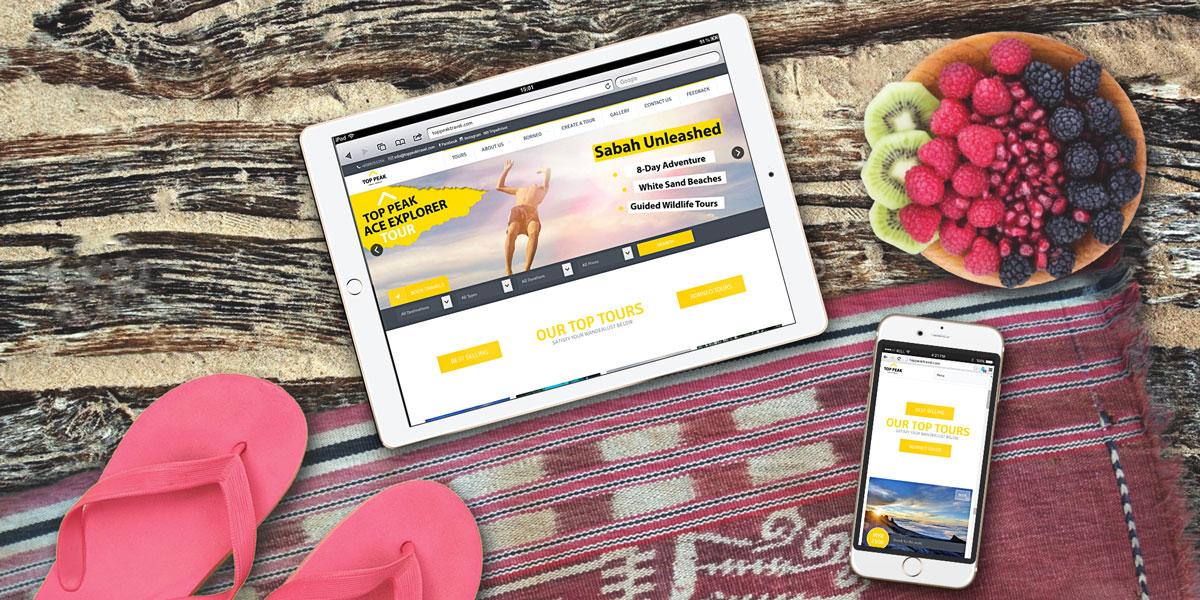 Top Peak Travel Borneo Mobile Website