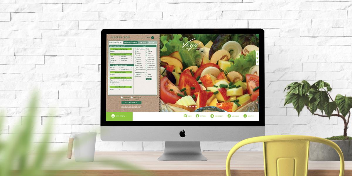 Vego Salad Bar Desktop Website Design
