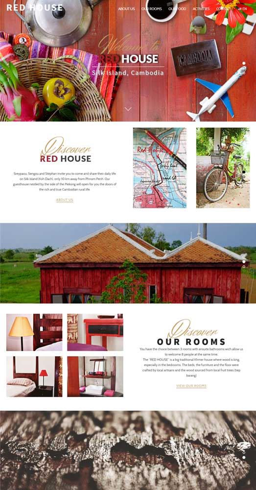 Red House Website Landing Page