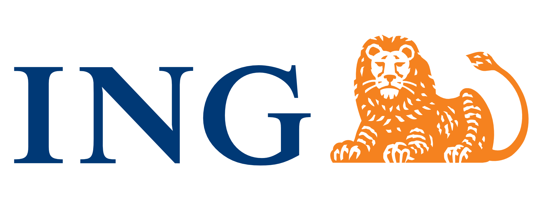 ING's traditional serif font looks dignified