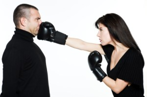 pareja lucha