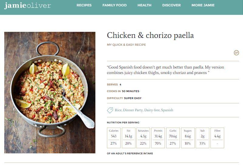 La «paella» de Jamie Oliver, el chef más famoso de Inglaterra
