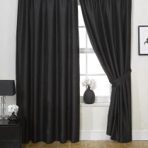 Pencil Pleat Tape Top Faux Silk Curtains