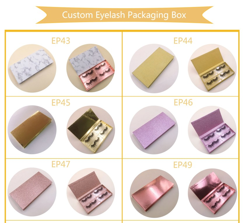 4 pairs Custom Lash box, luxury eyelash packaging box