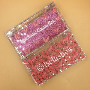 Custom Red Butterflies Lash Cases