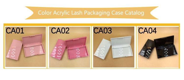 Color Acrylic Lash Cases