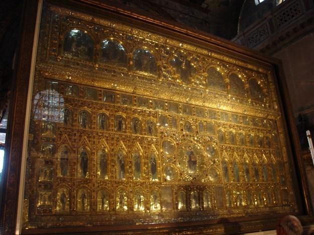 A Pala d'Oro, dentro da Basílica de São Marcos. Foto: Marcelle Ribeiro
