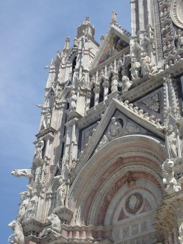 Detalhe da Catedral de Siena. Foto: Marcelle Ribeiro