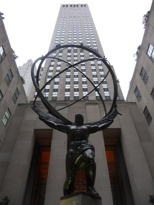 Escultura de Atlas, na Quinta Avenida. Foto: Marcelle Ribeiro