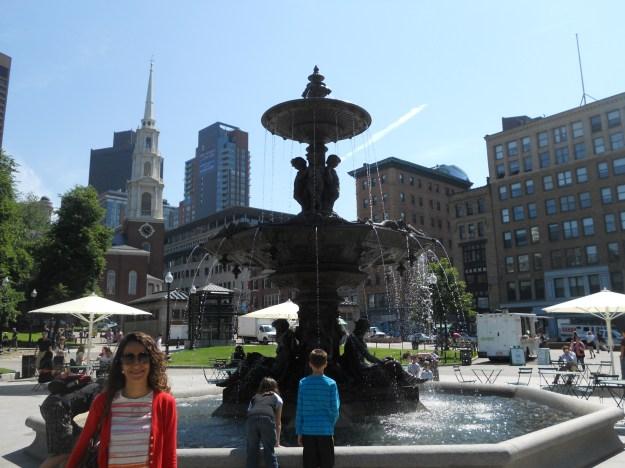 Chafariz no Boston Common. Foto: Guilherme Calil