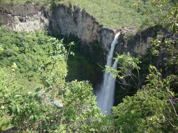 Cachoeira do Salto do Rio Preto, na Chapada dos Veadeiros. Foto: Marcelle Ribeiro