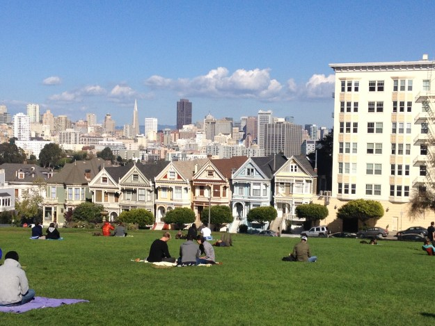 Painted Ladies, na Alamo Square. Foto: Marcelle Ribeiro