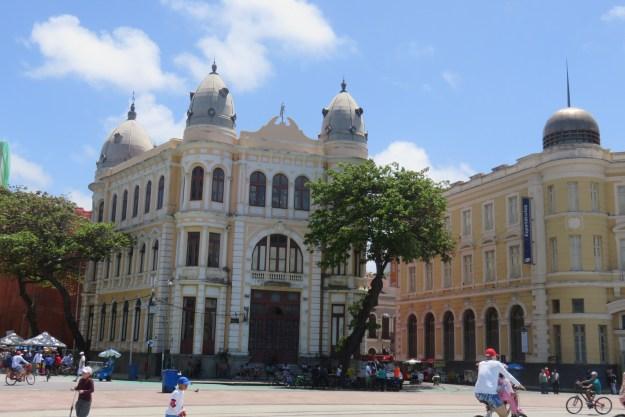 Praça do Marco Zero, no Recife Antigo. Foto: Marcelle Ribeiro.