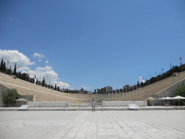 O histórico estádio Panatenaico, em Atenas. Foto: Marcelle Ribeiro
