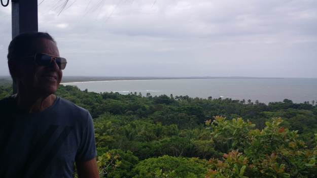 Mirante da Pousada do Céu, na Ilha de Boipeba. Foto: Virgínia Mascarenhas