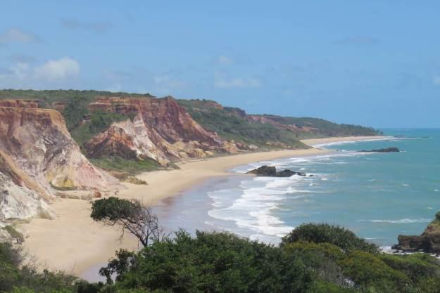 Vista maravilhosa da praia de Tambaba. Foto: Marcelle Ribeiro